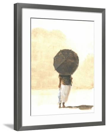 Umbrella and Fish 2, 2015-Lincoln Seligman-Framed Giclee Print