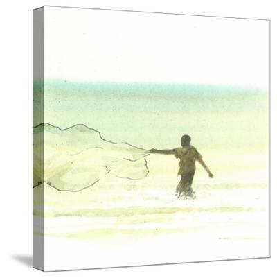 Lone Fisherman 6, 2015-Lincoln Seligman-Stretched Canvas Print