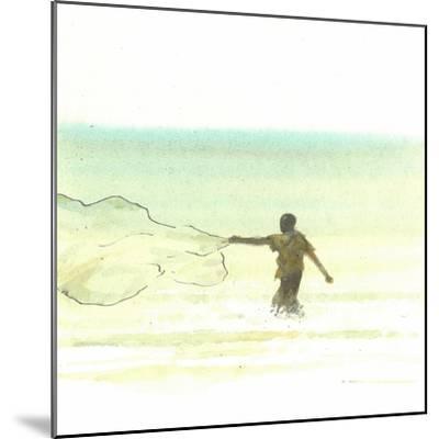 Lone Fisherman 6, 2015-Lincoln Seligman-Mounted Giclee Print