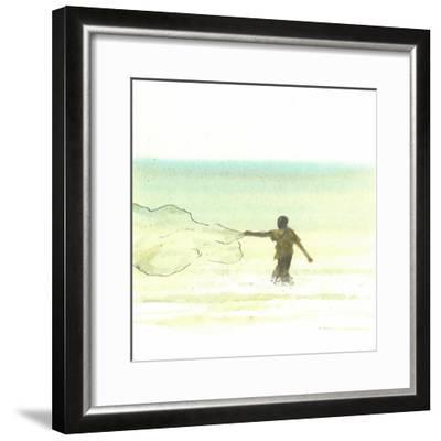 Lone Fisherman 6, 2015-Lincoln Seligman-Framed Giclee Print