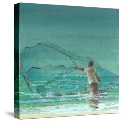 Lone Fisherman 3, 2015-Lincoln Seligman-Stretched Canvas Print