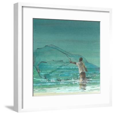 Lone Fisherman 3, 2015-Lincoln Seligman-Framed Giclee Print