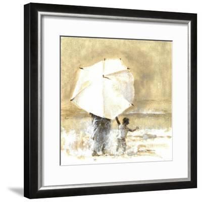 Umbrella and Child 2, 2015-Lincoln Seligman-Framed Giclee Print