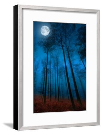 Dialogue with the moon-Philippe Sainte-Laudy-Framed Photographic Print