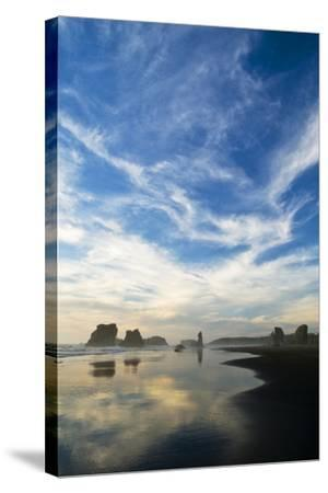 USA, Oregon, Bandon Beach. Sea Stacks at Twilight-Jaynes Gallery-Stretched Canvas Print