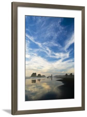 USA, Oregon, Bandon Beach. Sea Stacks at Twilight-Jaynes Gallery-Framed Photographic Print