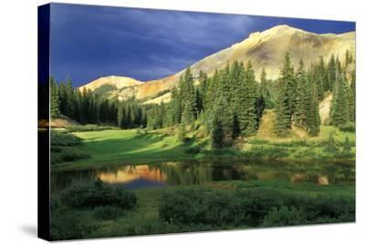 USA, Colorado. Red Mountain at Sunset-Jaynes Gallery-Stretched Canvas Print