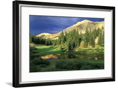 USA, Colorado. Red Mountain at Sunset-Jaynes Gallery-Framed Photographic Print