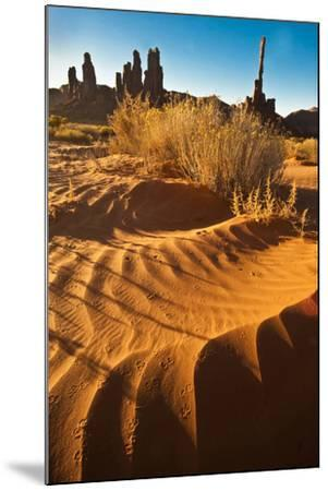 USA, Utah, Monument Valley. Totem Pole Formation and Sand Dunes-Jaynes Gallery-Mounted Photographic Print