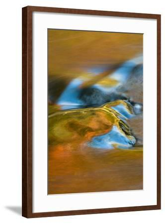 USA, Michigan, Upper Peninsula. Bond Falls Reflections in Fall-Jaynes Gallery-Framed Photographic Print