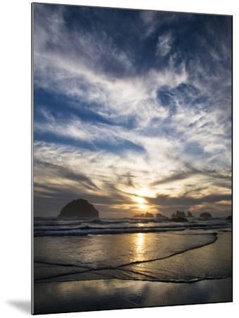 USA, Oregon, Bandon Beach. Face Rock and Sea Stacks at Twilight-Jaynes Gallery-Mounted Photographic Print