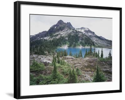 Vancouver Island, Strathcona Provincial Park, Glacier Feed Cream Lake-Christopher Talbot Frank-Framed Photographic Print