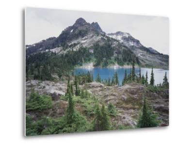 Vancouver Island, Strathcona Provincial Park, Glacier Feed Cream Lake-Christopher Talbot Frank-Metal Print