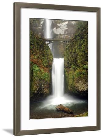 Multnomah Falls and Creek, Multnomah Falls Sp, Columbia Gorge, Oregon-Michel Hersen-Framed Photographic Print
