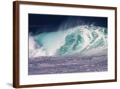 Hawaii, Oahu, Large Waves Along the Pipeline Beach-Terry Eggers-Framed Photographic Print