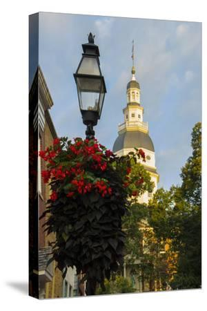 Historic Maryland State House in Annapolis, Maryland-Jerry Ginsberg-Stretched Canvas Print