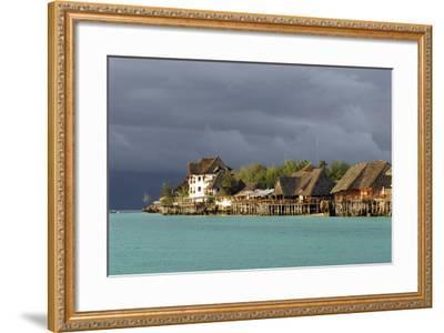 Tanzania, Zanzibar, Nungwi, Tourist Resort on Stilts-Anthony Asael-Framed Photographic Print