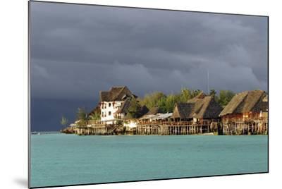 Tanzania, Zanzibar, Nungwi, Tourist Resort on Stilts-Anthony Asael-Mounted Photographic Print