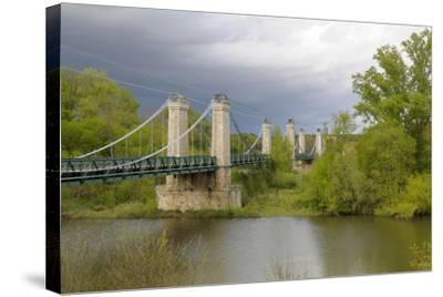 France, Centre, Chatillon Sur Loire. Pont De Chatillon Sur Loire-Kevin Oke-Stretched Canvas Print