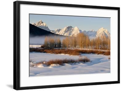 USA, Wyoming, Grand Tetons National Park. Oxbow Bend in Winter-Jaynes Gallery-Framed Photographic Print