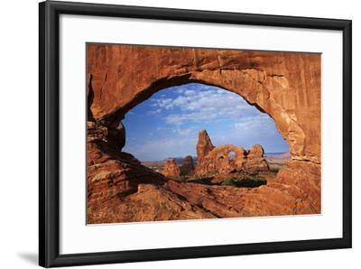 Utah, Arches National Park, Turret Arch Seen Through North Window-David Wall-Framed Photographic Print