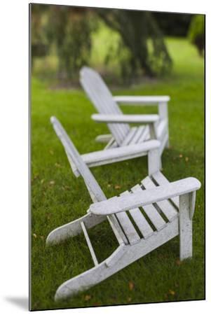 North Carolina, Outer Banks Seashore, Corolla, Adirondack Lawn Chairs-Walter Bibikow-Mounted Photographic Print