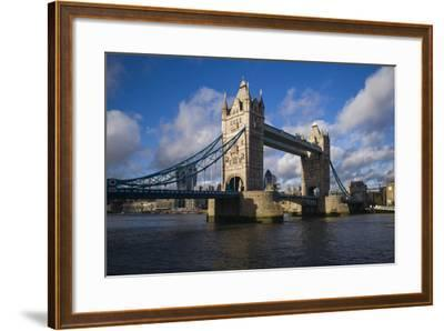 England, London, Tower Bridge, Late Afternoon-Walter Bibikow-Framed Photographic Print