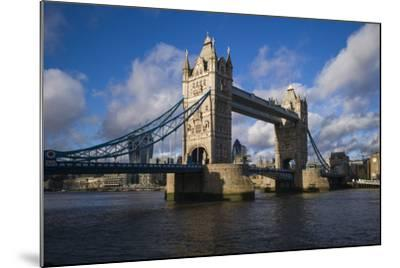 England, London, Tower Bridge, Late Afternoon-Walter Bibikow-Mounted Photographic Print