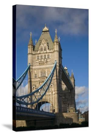 England, London, Tower Bridge, Late Afternoon-Walter Bibikow-Stretched Canvas Print