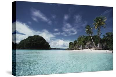Palau, Honeymoon Island, Rock Islands-Stuart Westmorland-Stretched Canvas Print