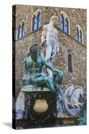 Statues in the Palazzo Vecchio-Terry Eggers-Stretched Canvas Print
