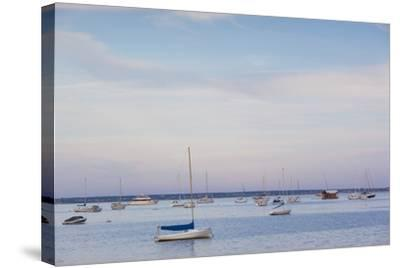 Massachusetts, Cape Cod, Provincetown, the West End, Boats-Walter Bibikow-Stretched Canvas Print