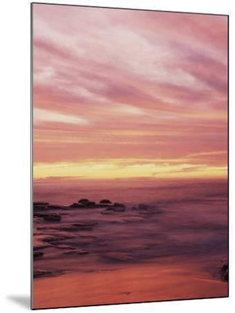 California, San Diego, Sunset Cliffs, Sunset over the Ocean with Waves-Christopher Talbot Frank-Mounted Photographic Print