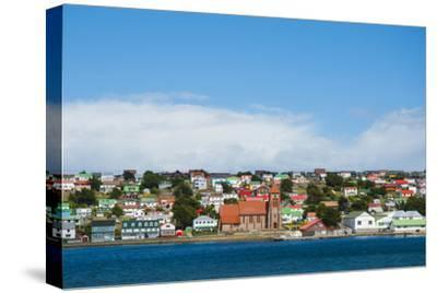 Falkland Islands. Stanley. View from the Water-Inger Hogstrom-Stretched Canvas Print