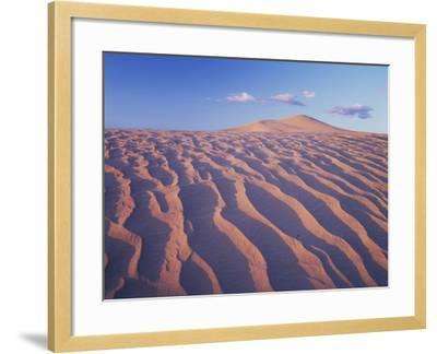 California, Dumont Dunes in the Mojave Desert at Sunset-Christopher Talbot Frank-Framed Photographic Print
