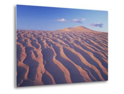 California, Dumont Dunes in the Mojave Desert at Sunset-Christopher Talbot Frank-Metal Print