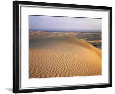 California, Imperial Sand Dunes, Patterns of Glamis Sand Dunes-Christopher Talbot Frank-Framed Photographic Print