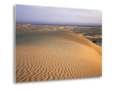 California, Imperial Sand Dunes, Patterns of Glamis Sand Dunes-Christopher Talbot Frank-Metal Print