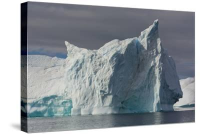 Antarctica. Gerlache Strait. Iceberg with Different Textures-Inger Hogstrom-Stretched Canvas Print