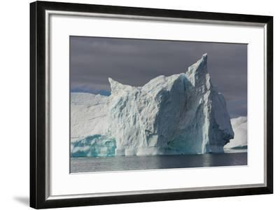 Antarctica. Gerlache Strait. Iceberg with Different Textures-Inger Hogstrom-Framed Photographic Print
