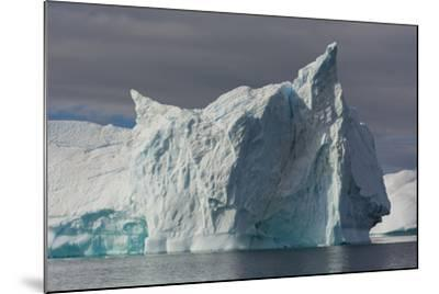 Antarctica. Gerlache Strait. Iceberg with Different Textures-Inger Hogstrom-Mounted Photographic Print