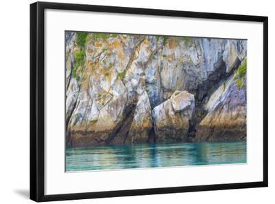 Alaska, Glacier Bay National Park. Cliff Reflects in Seawater-Jaynes Gallery-Framed Photographic Print