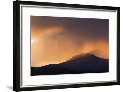 Colorado. Sunset in Stormy Rocky Mountains-Jaynes Gallery-Framed Photographic Print