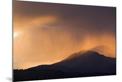 Colorado. Sunset in Stormy Rocky Mountains-Jaynes Gallery-Mounted Photographic Print
