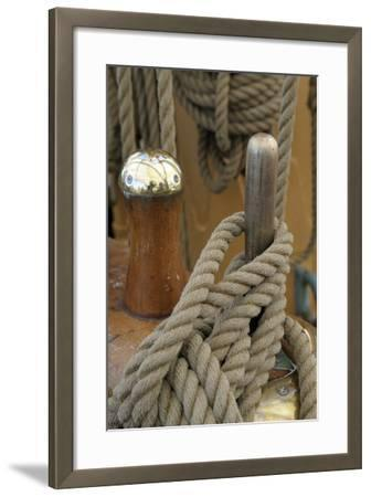 Canada, B.C, Victoria. Rigging Rope around a Peg on the Uscg Eagle-Kevin Oke-Framed Photographic Print