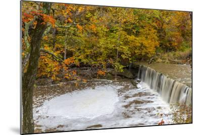 Anderson Falls on Fall Fork of Clifty Creek in Autumn, Indiana-Chuck Haney-Mounted Photographic Print