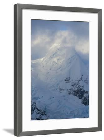 Antarctica. Paradise Harbor. Snowy Mountains and Clouds at Sunrise-Inger Hogstrom-Framed Photographic Print