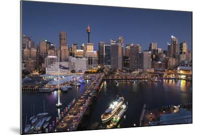 Australia, Sydney, Darling Harbor, and Pyrmont Bridge, Elevated View-Walter Bibikow-Mounted Photographic Print