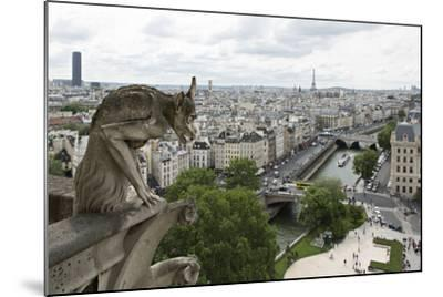 Europe, France, Paris. a Gargoyle on the Notre Dame Cathedral-Charles Sleicher-Mounted Photographic Print
