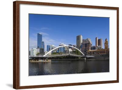 Australia, Victoria, Melbourne, Skyline from Yarra River-Walter Bibikow-Framed Photographic Print